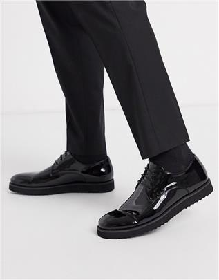 Truffle Collection lakleren brogues-Rood