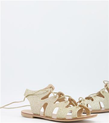 Pimkie - Sandalen met veters-Goud