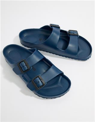 Birkenstock - Arizona - EVA sandalen in marineblauw
