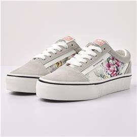 MACK PLATFORM Dames lage sneakers bloemenprint